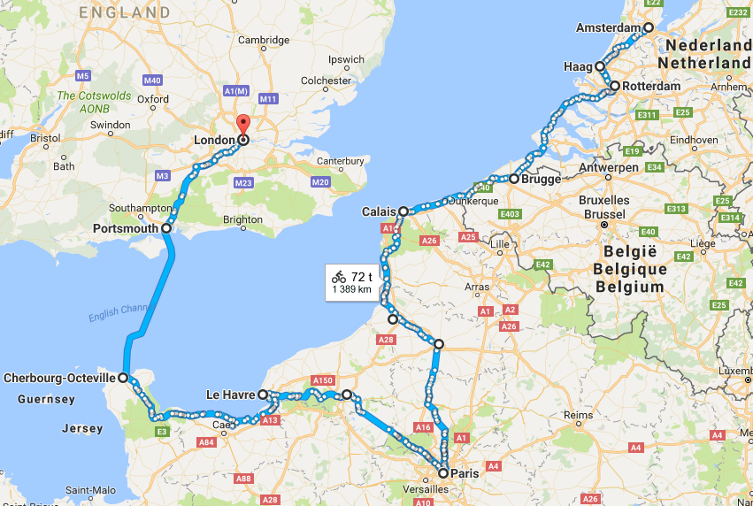 distanse kart Sykkelruter på kart – Sykkelfruen.no distanse kart