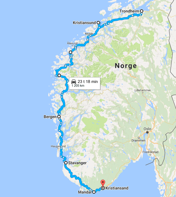 kart over sykkelruter i norge Sykkelruter på kart – Sykkelfruen.no